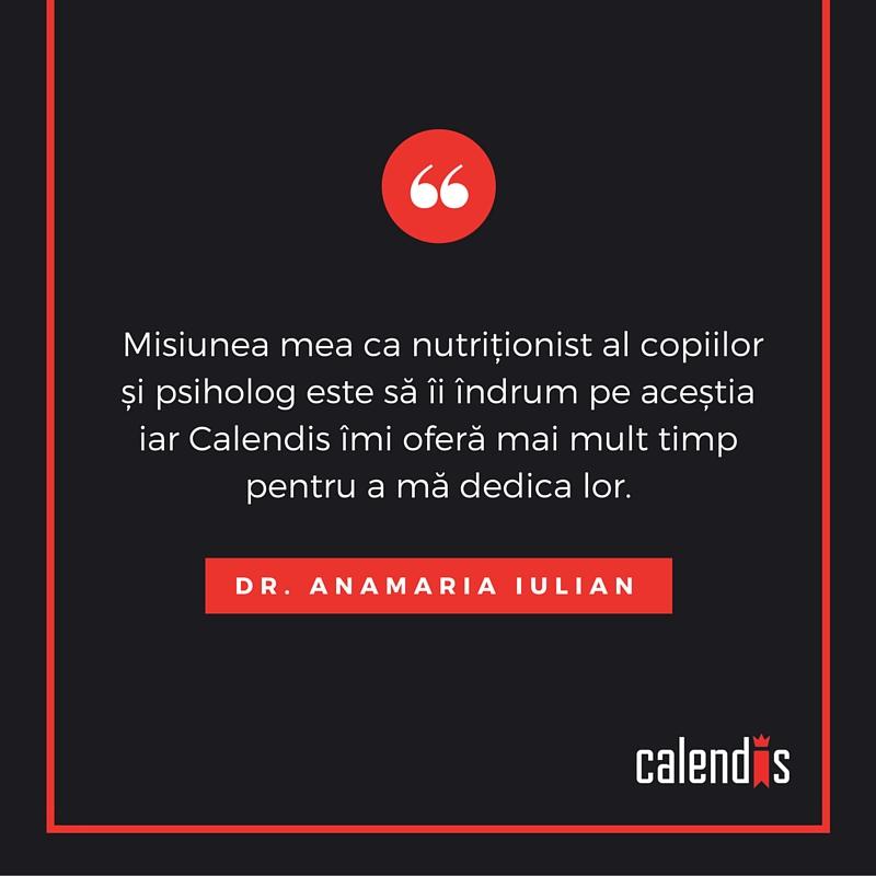 Feedback clienti Calendis -Anamaria Iulian