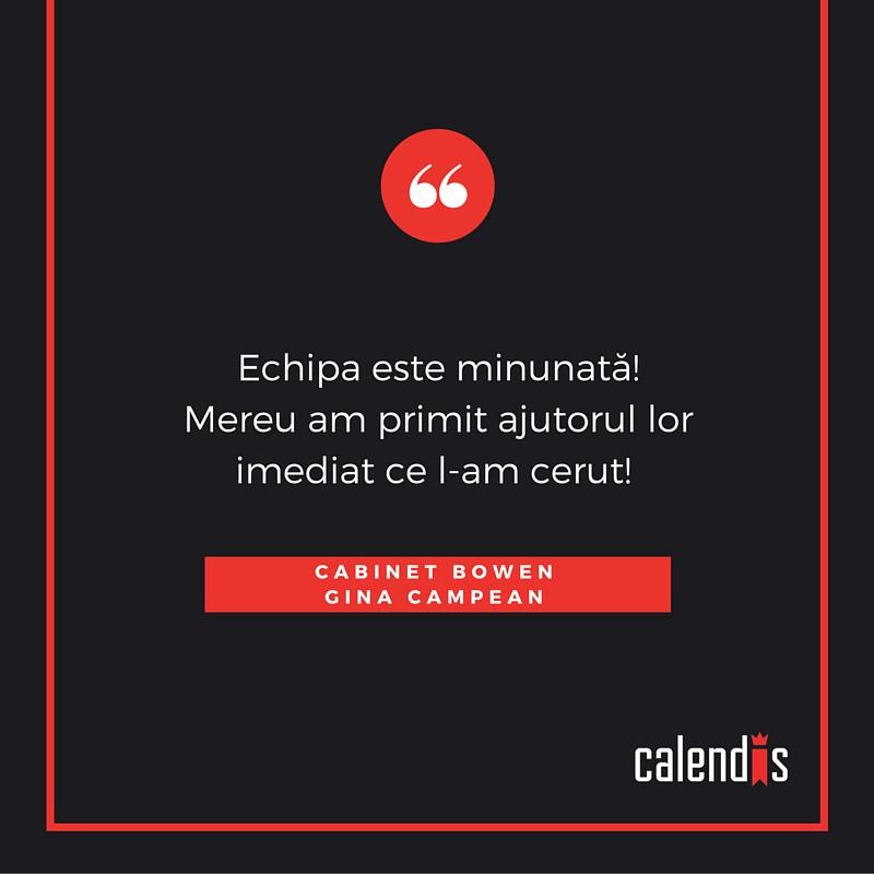 feedback clienti calendis - gina campean