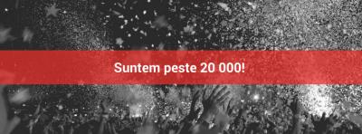 calendis 20 000 de utilizatori milestone