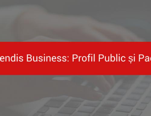 Îmbunătățiri Calendis Business – Profil Public și Pachete de Servicii